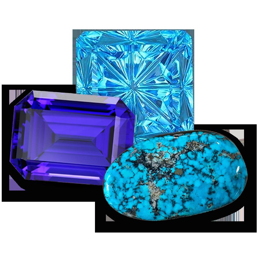 December has 3 beautiful birthstones! Topaz, Tanzanite, Turquoise